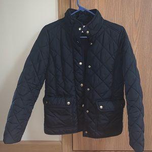 J Crew Black Quilted Jacket